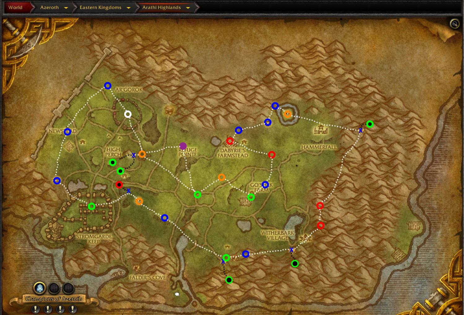 wow-arathi-highlands-Horde-rare-locations-map-1