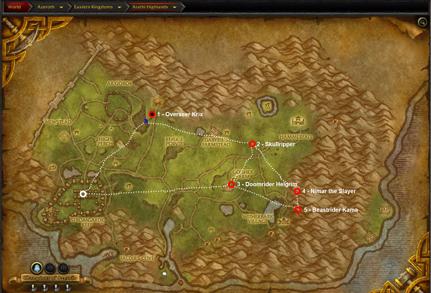 wow-arathi-highlands-alliance-mount-farming-map